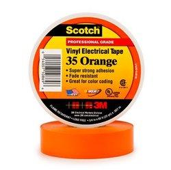 3M Scotch 35 Изоляционная лента высшего класса, 19мм х 20м, оранжевая арт. 7000031672