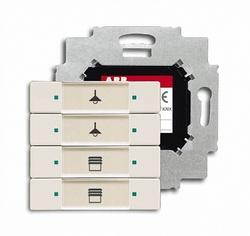 ABB 6127/01-896-500 Сенсор 4-клавишный с коплером в комплекте, chaley-white арт. 6117-0-0249