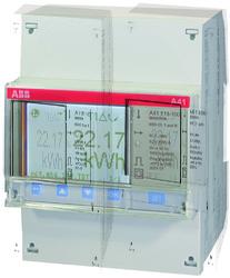 ABB A41 312-200 Счетчик 1-ф.(2Н),4-т.б/тарифик.,кл.т.1,пр.вкл. 10(80)А,2 вх/вых,RS485 арт. 2CMA100086R1000