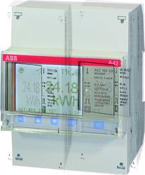 ABB A42 112-200 Счетчик 1-ф.,1-т.,кл.т.1,трансф.вкл. 1(6)А, имп.выход,RS485 арт. 2CMA100094R1000
