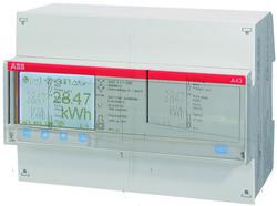 ABB A43 311-200 Счетчик 3-ф.(2Н),4-т.б/тарифик.,кл.т.1,пр.вкл. 10(80)А, 2 вх/вых арт. 2CMA100111R1000