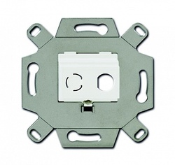 ABB Адаптор/суппорт для ТВ-разъёмов тип F, BNC-F, альпийский белый арт. 0230-0-0437