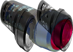 ABB CP Кнопка с подсветкой CP1-12R-10 красная 110-130В AC/DC с плоской клавишей без фиксации 1НО арт. 1SFA619100R1211