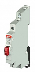 ABB E215-16-11C Кнопка без подсветки красная на DIN-рейку арт. 2CCA703151R0001