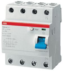 ABB F204AC УЗО 4Р 25A 500mA (AC) арт. 2CSF204001R4250