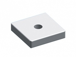 ABB Гайка квадратная М4 20х20х4мм (упак=10шт) арт. ZX227P10