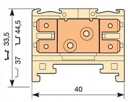 ABB Клемма HD6/8.2G.2G.1, 4 quick-connect (fast on) 6,3x0,8мм, 6 мм. кв., горизонтальные арт. 1SNA160606R1400
