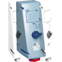 ABB MPR Розетка с рубильником, механической блокировкой и УЗО 416MPR6W, 16А, 3Р+N+Е, IP67, 6ч арт. 2CMA168075R1000