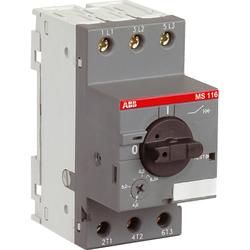 ABB MS116-1.0 50kA Автоматический выключатель с регулир. тепловой защитой 0.63А-1А 50kA арт. 1SAM250000R1005