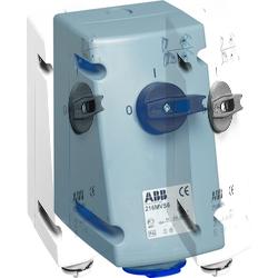 ABB MVS Розетка с выключателем и механической блокировкой 232MVS6, 32A, 2P+E, IP44, 6ч арт. 2CMA167692R1000