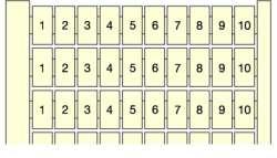 ABB Маркировка RC610 10X(391 A 400) , гориз. арт. 1SNA233101R2700