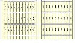 ABB Маркировка RC810 (100 X M) , гориз. арт. 1SNA234162R2400