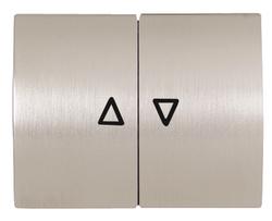 ABB NIE Olas Полированная сталь Клавиша 2-я жалюзийная арт. 8444 AL