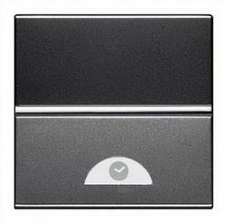 ABB NIE Zenit Антрацит Электронный выключатель на МОПТ с таймером 10 сек-10 мин.,40-500 Вт,2 мод арт. N2262.1 AN
