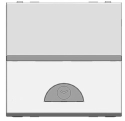 ABB NIE Zenit Серебро Электронный выключатель с таймером 10 сек - 10 мин., 1000 Вт, 2 мод арт. N2262 PL