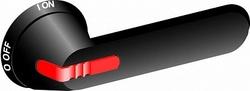 ABB OHB95J12E011-RUH Ручка черная для рубильников OT315..400E,с символами для управления через дверь арт. 1SCA100235R1001
