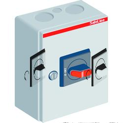 ABB OTL32 Рубильник в боксе OTL32B3M до 32A 3-полюсный, перфорация 4х25.5+ 2x16.5 арт. 1SCA022562R3630