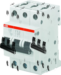 ABB S203M Автоматический выключатель 3P 2А (D) арт. 2CDS273001R0021