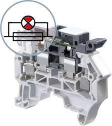 ABB ZS4-SF1-R3 Клемма держатель предохранителя 5x20мм, 5x25мм, 4мм. кв., с красным светодиодом-индикатором сгор.предох. 115-250В арт. 1SNK508414R0000