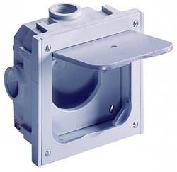 ABL Бокс-адаптер для RJ45, ТВ и телефонных механизмов, IP41, (серый) арт. 1632497