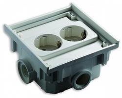 ABL Двойная розетка термопласт, 4 кабельных ввода с резьбой, ABL арт. 1632602