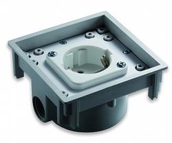 ABL Розетка SCHUKO, термопласт, 2 кабельных ввода с резьбой, IP41, ABL арт. 1471601