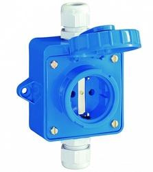 ABL Розетка для монтажа на поверхность IP68, 16A, 2P+E, 250V (синий) арт. 1977951