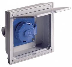 ABL Розетка для скрытой установки (для пола/мебели), IP66, 158,5x146 мм (серый) арт. 1471360