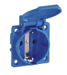 ABL Розетка приборная, термопласт, фланец, IP54, 16A, 2P+E, 250V, (синий) арт. 1461150