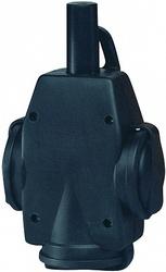 ABL Тройник резиновый 16A, 2P+E, 250V, (черный), для кабеля сечением 1,5 мм2 арт. 1473190