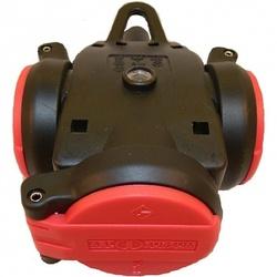 ABL Тройник резиновый с крышкой и индикатором напряжения, IP54, 16A, 2P+E, 250V, (красный/черный) арт. 1173543