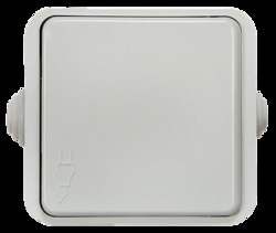 ASD Aqua Белая Розетка 1-ая с крышкой полугерметичная 3110 арт. 4690612000541