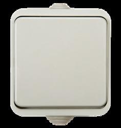 ASD Aqua Белый Выключатель 1-кл. полугерметичный 3100 арт. 4690612000428