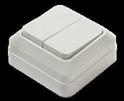ASD Bolleto Белый Выключатель 2-кл. накладной 7023 арт. 4680005959761