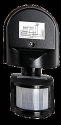 ASD Черный Датчик движения инфракрасный ДД-008-B 1200Вт 180 гр.12м IP44 арт. 4680005959730