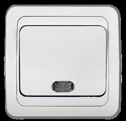 ASD Classico Белый Выключатель 1-кл. с подсветкой 2121 арт. 4680005959853