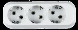 ASD Колодка (розеточный блок) 3-ая с/з АБС пластик 5130 арт. 4690612000480