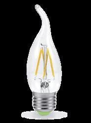 ASD Premium Лампа LED свеча на ветру 5Вт 160-260В Е27 3000К 450Лм прозрачная арт. 4690612003283