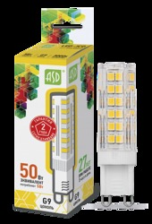 ASD Standard Лампа LED-JCD 5Вт 160-260В G9 3000К 450Лм арт. 4690612004594