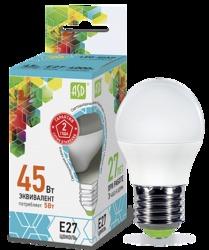 ASD Standard Лампа LED шар 5Вт 160-260В Е27 4000К 450Лм арт. 4690612002187