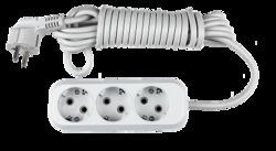 ASD Удлинитель УЗ-З-3, 3 розетки с/з, 3м АБС пластик 8133 арт. 4680005951833
