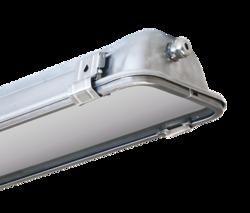 АСТЗ Светильник  ЛСП67-2х28-011 Linkor корпус нерж. сталь, закаленное стекло, cos?=0,96, под T5 G5 арт. 1067228011