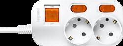 Anam Legrand e-Fren 2 Удлинитель с выключателем+ индивидуальным выкл.,шнур 2.5м, 16A, 250V арт. L855962A2