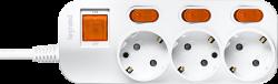 Anam Legrand e-Fren 3 Удлинитель с выключателем+ индивидуальным выкл.,шнур 4.5м, 16A, 250V арт. L855962B4