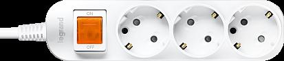 Anam Legrand e-Fren 3 Удлинитель с выключателем, шнур 1.5м, 16A, 250V арт. L855961B1