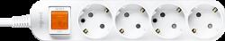 Anam Legrand e-Fren 4 Удлинитель с выключателем, шнур 2.5м, 16A, 250V арт. L855961C2