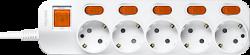 Anam Legrand e-Fren 5 Удлинитель с выключателем+ индивидуальным выкл.,шнур 2.5м, 16A, 250V арт. L855962D2