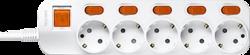 Anam Legrand e-Fren 5 Удлинитель с выключателем+ индивидуальным выкл.,шнур 4.5м, 16A, 250V арт. L855962D4