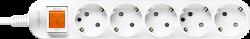 Anam Legrand e-Fren 5 Удлинитель с выключателем, шнур 4.5м, 16A, 250V арт. L855961D4