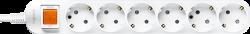 Anam Legrand e-Fren 6 Удлинитель с выключателем, шнур 4.5м, 16A, 250V арт. L855961E4